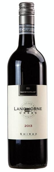 2013 BackVintage Langhorne Creek Shiraz