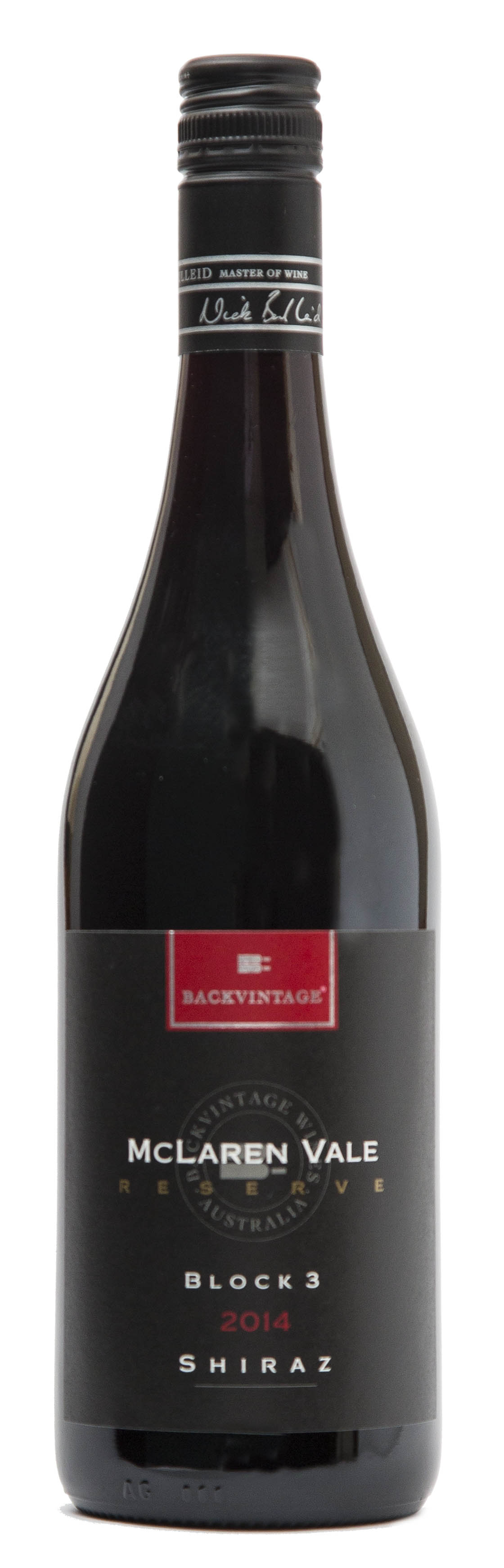 "2014 BackVintage Reserve ""Block 3"" McLaren Vale Shiraz"